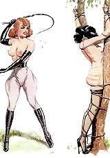 Mistresses submit and train their obedient slaves