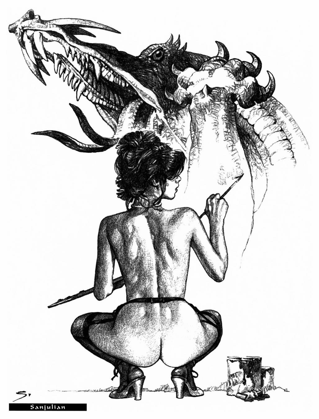 Эротические черно белые рисунки карандашом 13 фотография